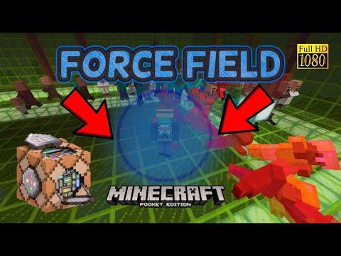 MCPE Working FORCE FIELD! Command block tutorial! Minecraft Pocked Editon