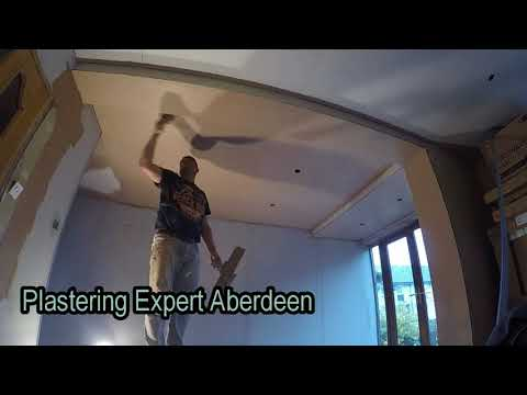 Plasterboard ceiling - Taping,  Plastering Skimming  - Aberdeen Scotland