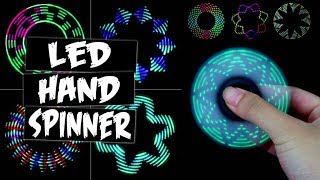 Download LED PATTERNS HAND SPINNER FIDGET TOY Video
