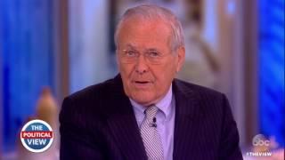 Donald Rumsfeld On Pres. Trump, Honoring Veterans & More