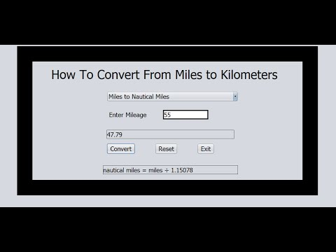 How to Convert From Miles to Kilometers in Java NetBean