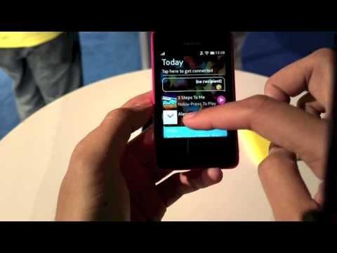 Nokia Asha 501 Swipe UI Demo