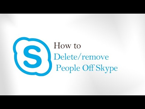 How To remove/Delete People on Skype - remove someone from skype contact