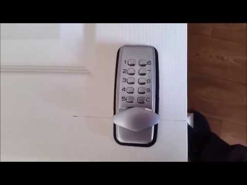 How to fit a simple keypad lock