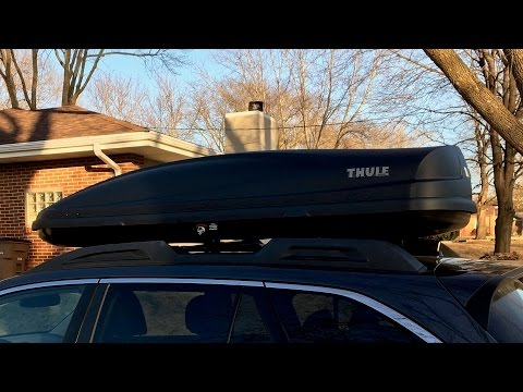Thule Force XL Roof Cargo Carrier - Extended (from Subaru) Unboxing and Install