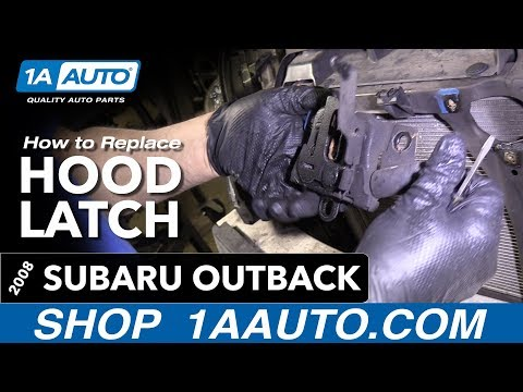 How to Replace Install Hood Latch 2008 Subaru Outback