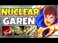 NUCLEAR ONE-SHOT GAREN MID! INSTANTLY KILL ENEMY CARRIES WITH Q! (INSANE DAMAGE) - League of Legends