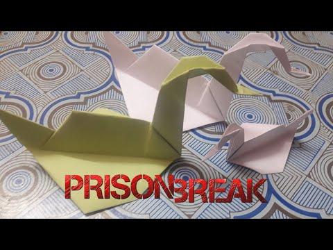 How to craft 'Prison Break' swan   Origami   Arun