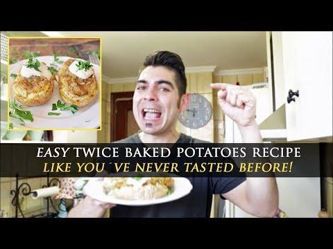 Spanish Style Twice Baked Potatoes Recipe
