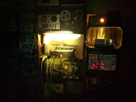 automated reed organ, old televisions, radios and other machines