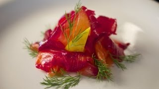 Beetroot Cured Salmon - Gravlax - Bruno Albouze - THE REAL DEAL