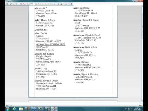 Church Windows v18 - Membership: Directory in a booklet