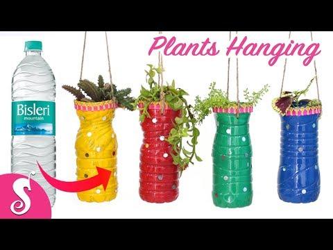 Waste BOTTLE Reusing | Make PLANTS HANGING for Gardening | Home Decor Idea