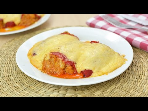 Tuna-Stuffed Piquillo Peppers - Piquillo Peppers with Tuna, Bechamel Sauce & Gouda Cheese
