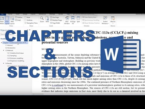 How to make chapters, sections and subsections in word