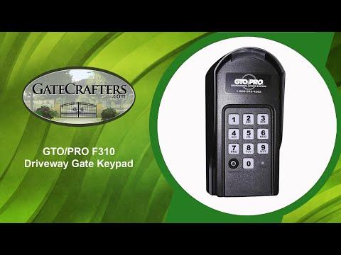 GTO/PRO F310 Driveway Gate Keypad