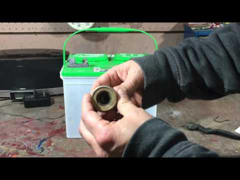 How To Clean Car or Truck Battery Terminal Posts From Corrosion and Acid