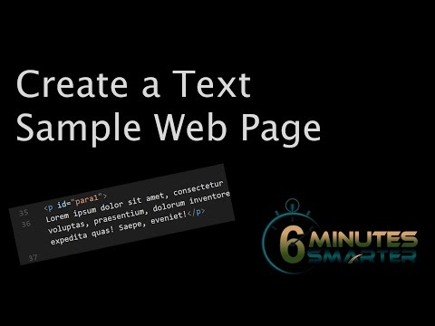Create a Text Sample Web Page