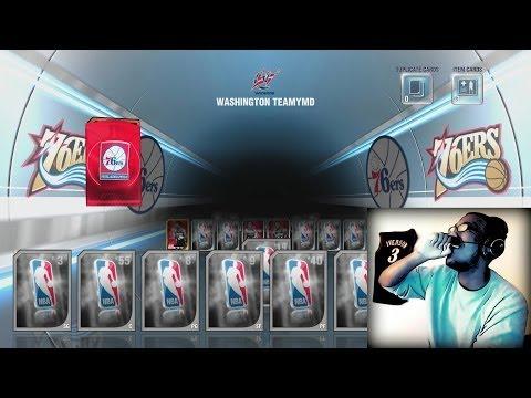 NBA 2K14 Next Gen MyTEAM - FACECAM Historic 76ers Pack Opening! Spending 600K VC! PS4
