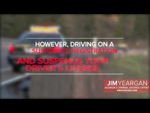 Suspended Registration - DUI JIM - Atlanta DUI Lawyer