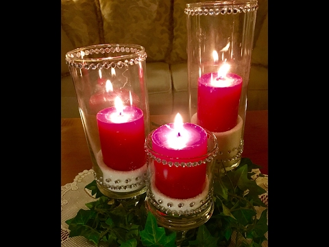 ~DIY Dollar Store Hurricane Candle Holder~