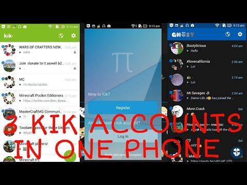 How to use 3 kik accounts in 1 phone !! (epic)