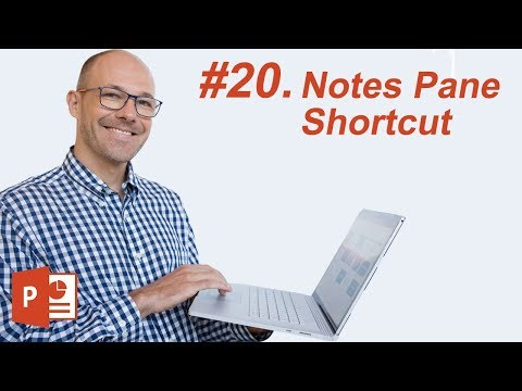 #20: Notes Pane in PowerPoint (Keyboard Shortcut)