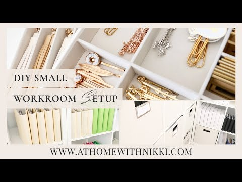 SMALL SPACE ORGANIZING |  PLANNER WORKROOM ORGANIZATION