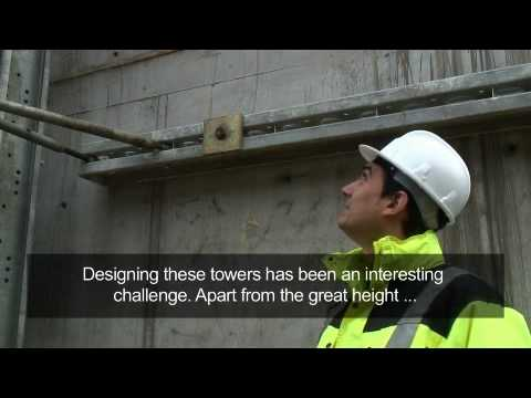 Worlds Tallest Megashor Towers Support a Twin Steel Viaduct Push Across Basque Valley