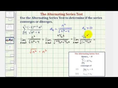 Ex: Determine if an Infinite Alternating Series Converges or Diverges (Convergent)