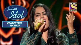 "Sayli का ""Mera Piya Ghar Aaya"" पर सुहावना प्रदर्शन | Indian Idol | Contestant Mashup"