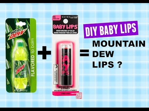 baby lips-DIY MOUNTAIN DEW BABY LIPS BALM- diy baby lips design DIY craft