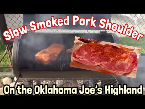 Pulled Pork - Slow Smoked Pork Shoulder on the Oklahoma Joe's Highland Smoker   - Kasket -