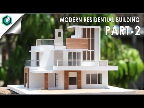 MODERN RESIDENTIAL BUILDING PART 2| How to make | EASY
