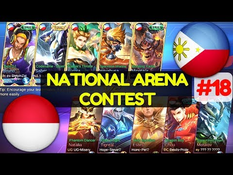 Philippines VS Indonesia [1st Game 160617]   National Arena Contest Mobile Legends