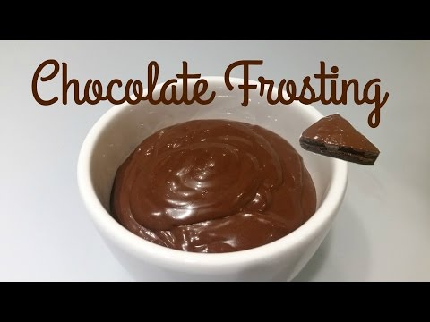 How To Make Chocolate Frosting-Homemade Chocolate Frosting Recipe- Frosting For Cake-Moms Tasty Food