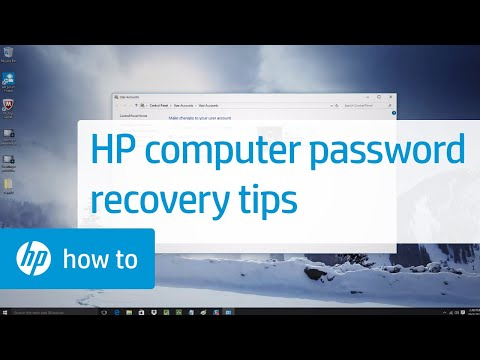 HP Computer Password Recovery and Tips: HP How To For You