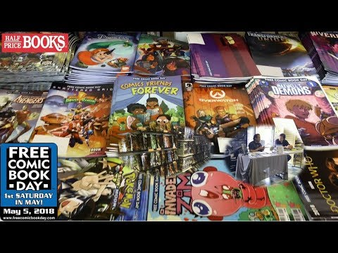 Free Comic Book Day Haul 2018 | 3 Comic Book Stores & 3 Half Price Books!!