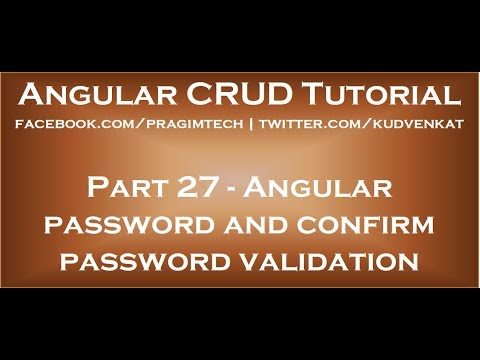Angular password and confirm password validation