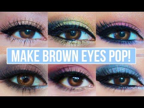 5 Makeup Looks That Make Brown Eyes Pop! | Brown Eyes Makeup Tutorial