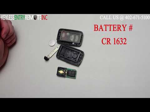 How To Replace The Toyota Key Fob Remote Battery 2009 Toyota