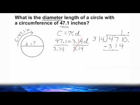 Finding The Unknown Radius Or Diameter Length Of A Circle