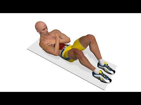 Esercizi per addominali: Crunch con braccia incrociate