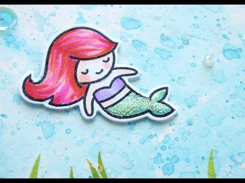 Yay for Mermaids! - ft. Ink smooching & Lawn Fawn Stamps