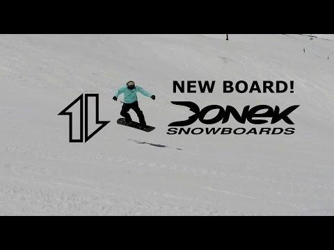 New Donek Snowboard!   One run (on slush).