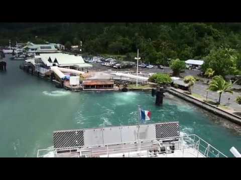 Moorea, French Polynesia - Aremiti Ferry 2 Departure HD (2017)