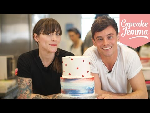How to Stack a Two-Tier Cake with Tom Daley! | Cupcake Jemma