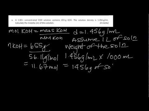 Calculating MOLALITY using DENSITY!