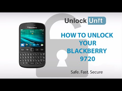 UNLOCK BLACKBERRY 9720 - HOW TO UNLOCK YOUR BLACKBERRY 9720