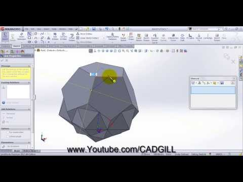 Truncated Icosahedron Video Tutorial SolidWorks